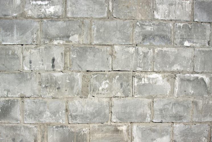 Muro di mattoni di cemento