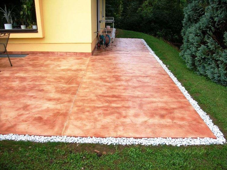 Pavimentazione di cemento stampato