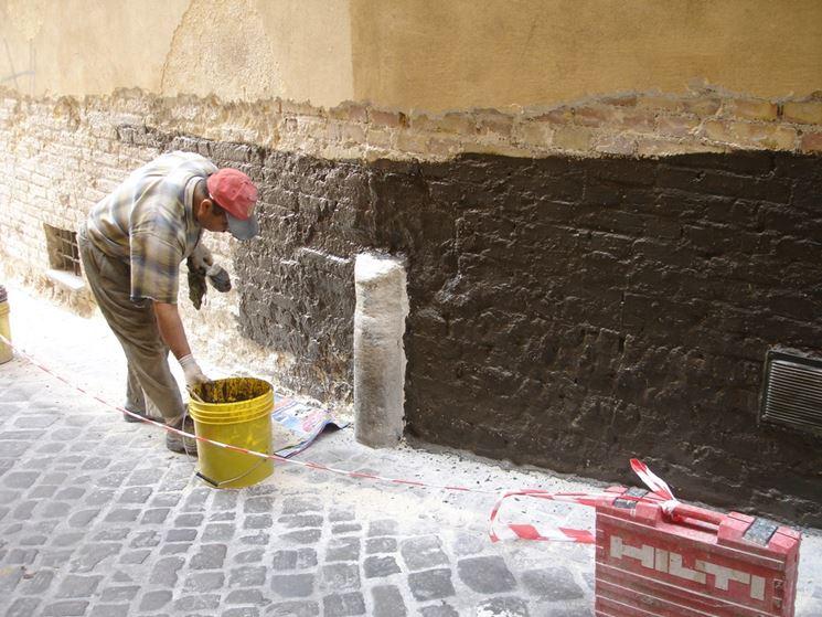 Applicazione di cemento osmotico