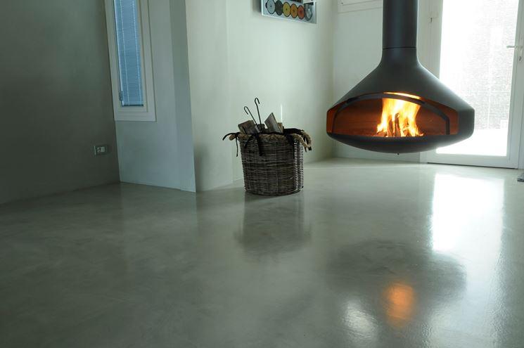 pavimento in resina epossidica con finitura lucida
