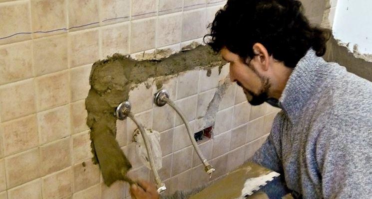 Applicazione di cemento a presa rapida