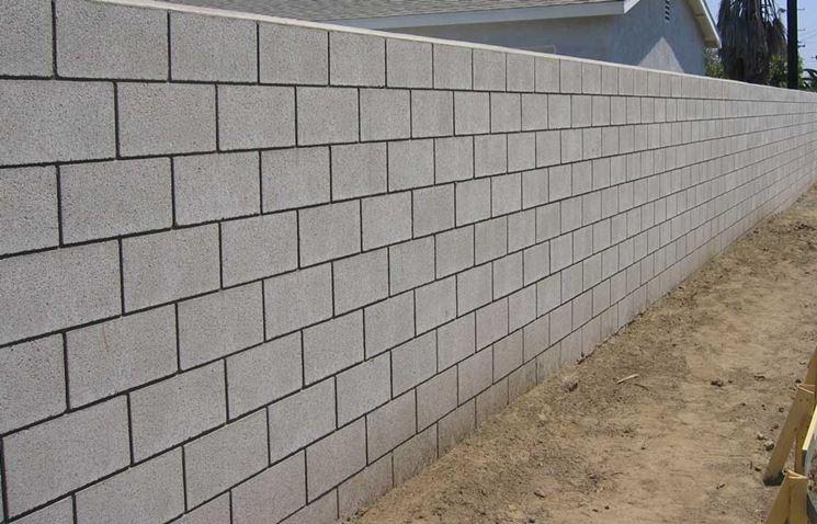 struttura con blocchi di calcestruzzo