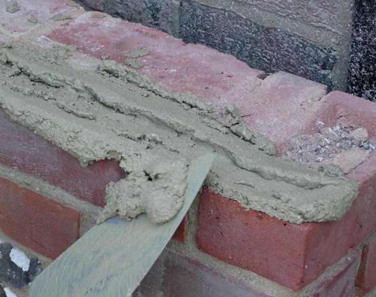 Le malte di calce sono usate per intonaci e come legante per mattoni