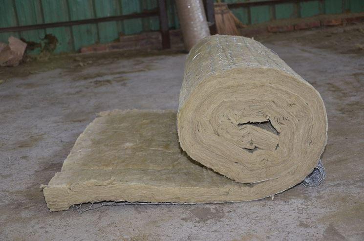 Coperta isolante in lana di roccia