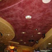 Locale con stucco veneziano sul soffitto