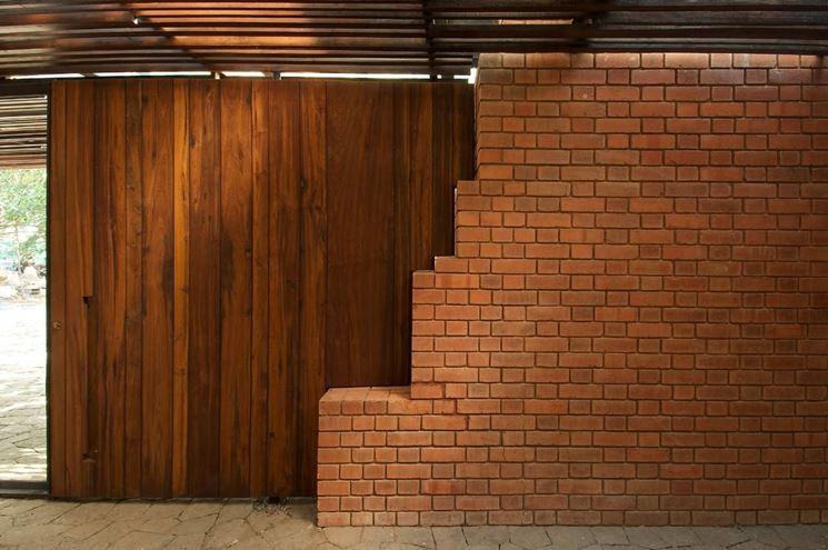 Muro divisorio in mattoni