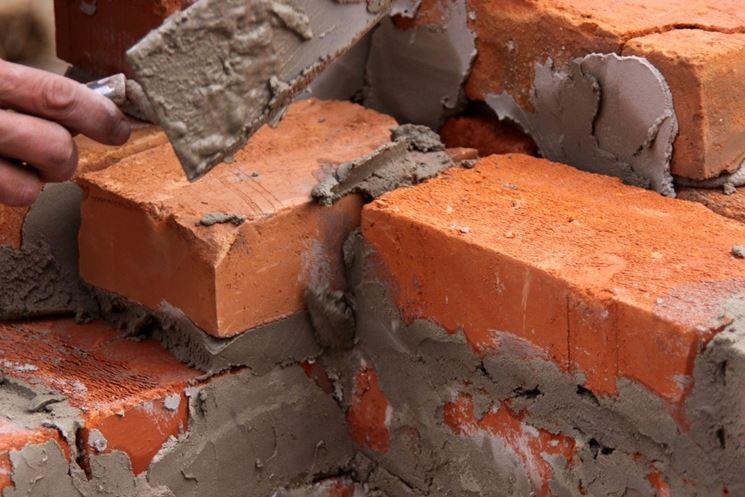 Muro con malta cementizia