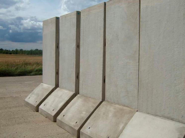 Muro di sostegno prefabbricato