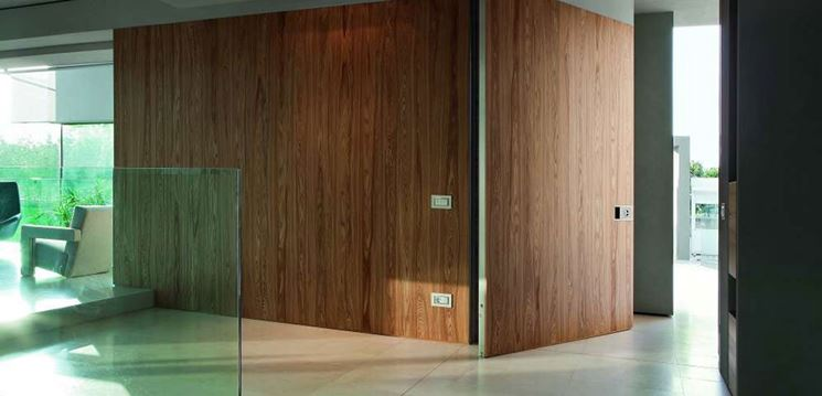 Muro divisorio in legno