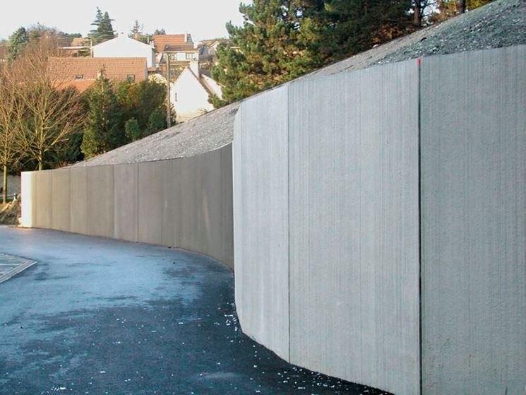 Muro di sostegno di un terrapieno