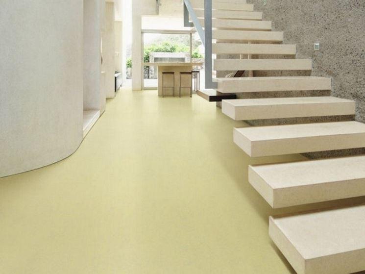 Elegante pavimentazione in linoleum