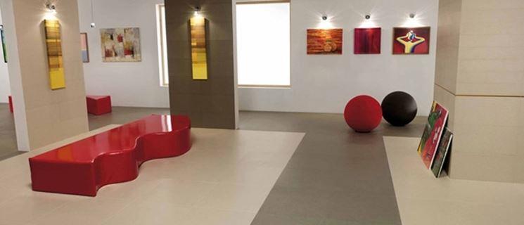 Pavimento in ceramica con texture