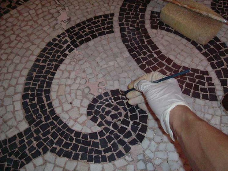 Bagno con mosaico artistico