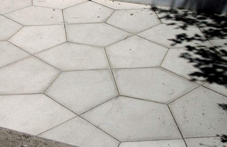 Piastrelle in cemento per esterno
