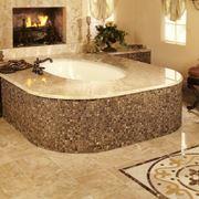 Pavimentazione in granito in bagno