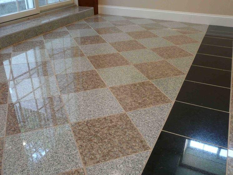 Elegante pavimentazione interna in granito