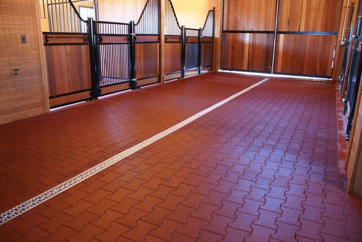 I pavimenti in gomma sono facili da posare