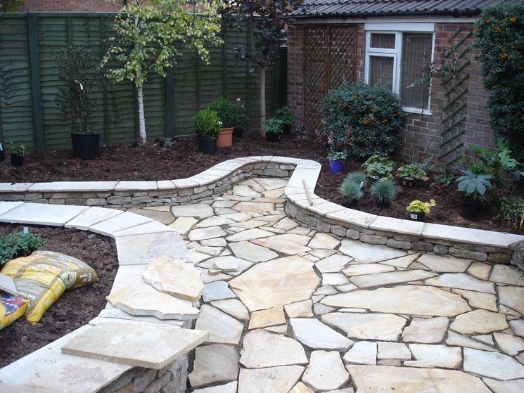 Come realizzare la pavimentazione per giardino pavimento - Vialetti da giardino ...