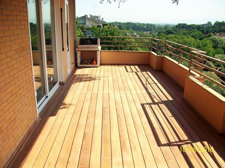 pavimentazione balcone in legno
