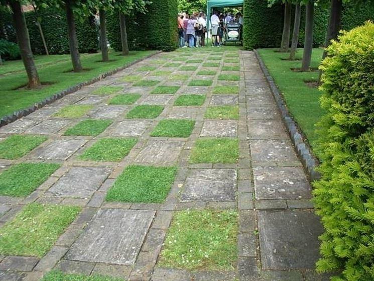 Pavimenti per giardini pavimento da esterni guida alla - Pavimentazione giardino senza cemento ...