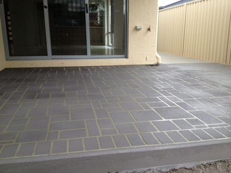 Pavimentazione in cemento