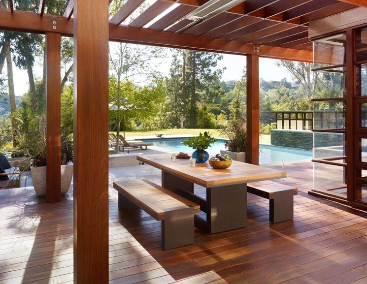 Terrazza realizzata in legno