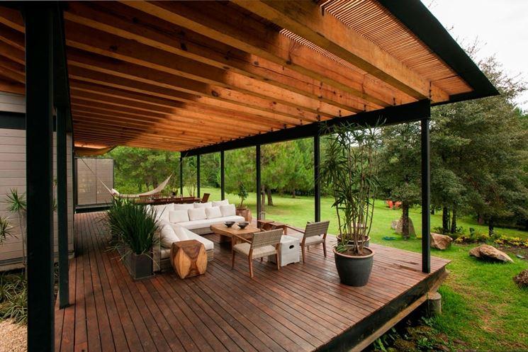 Bellissimo terrazzo in legno