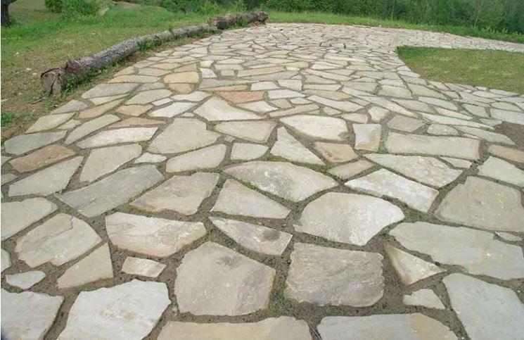 Realizzare pavimenti in pietra pavimento da esterni - Pavimentazione giardino in pietra ...