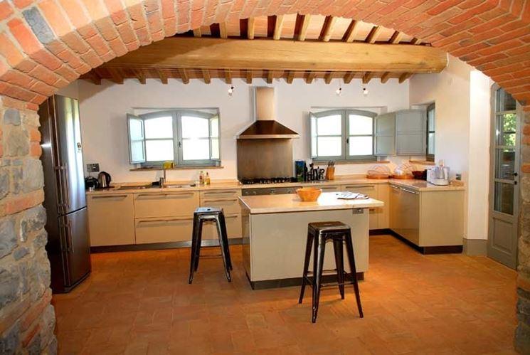 Pavimento in cotto fatto a mao per cucine rustiche