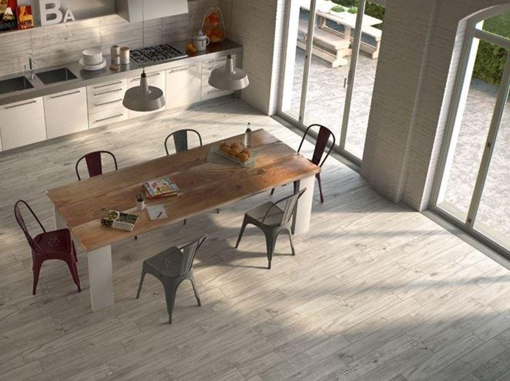 Come scegliere il pavimento cucina pavimento da interni - Cucina laminato effetto legno ...