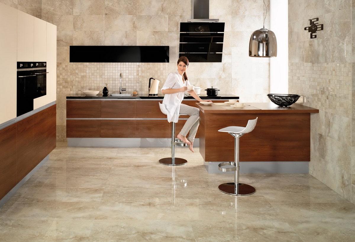 Ben noto Piastrelle Beige Cucina Moderna XO11