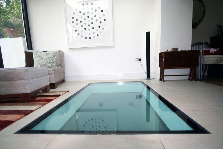 Pavimenti per interni in vetro trasparente