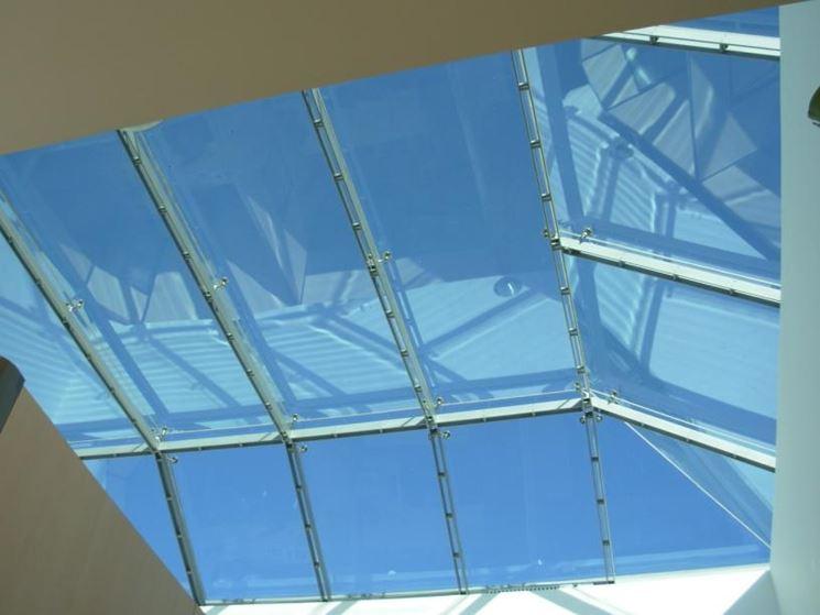 copertura vetrata poligonale