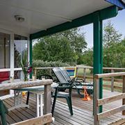 esempio di copertura in legno per terrazzo