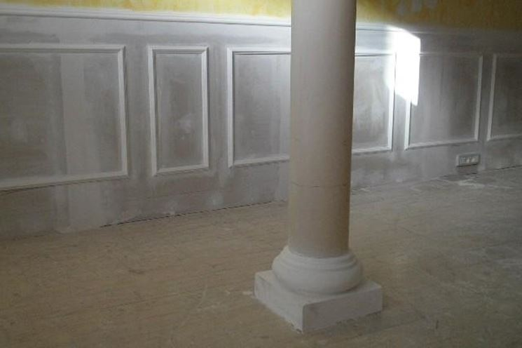 Colonne in cartongesso
