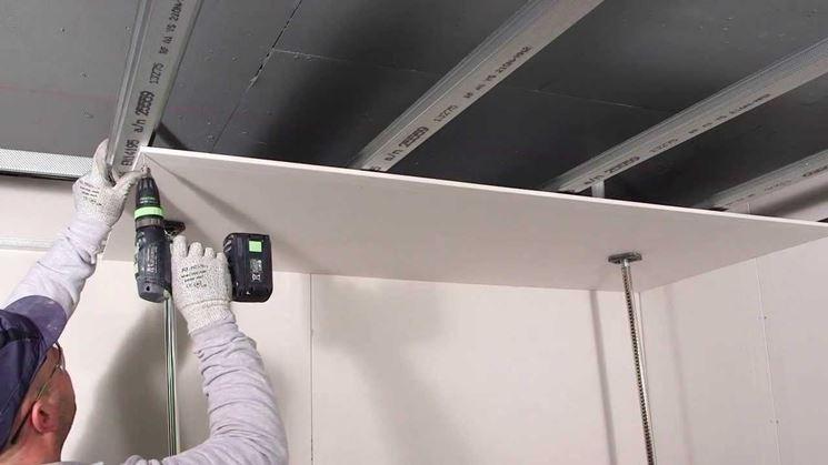 Creare velette in cartongesso i cartongessi consigli - Abbassamento del tetto in cartongesso ...