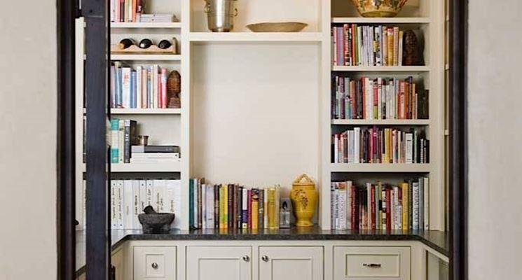 Libreria in cartongesso da parete