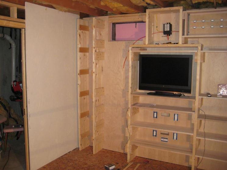 Come costruire una parete in legno - Parete divisoria in legno fai da te ...