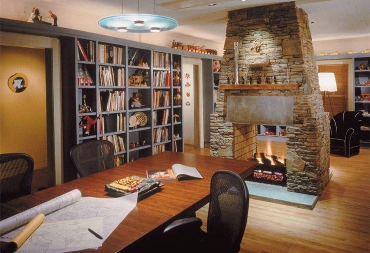 Libreria in cartongesso da ufficio