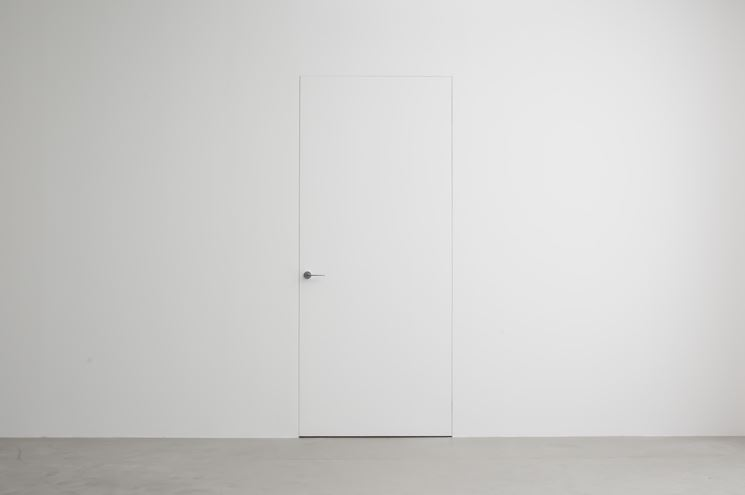 porta in cartongesso montata