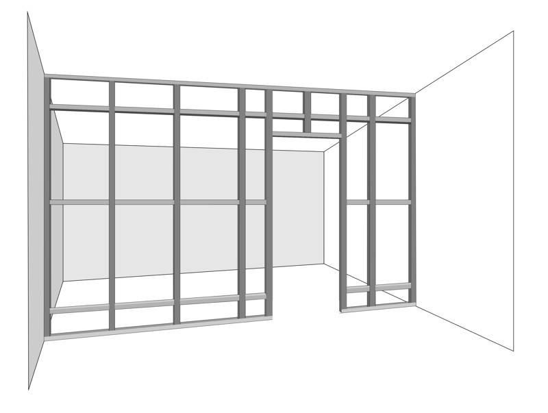 pareti in cartongesso come costruire una parete divisoria fai da te