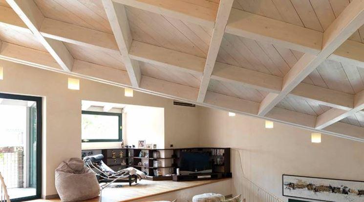 Soffitto In Legno Lamellare : Soppalco in legno lamellare il controsoffitto tutto sul