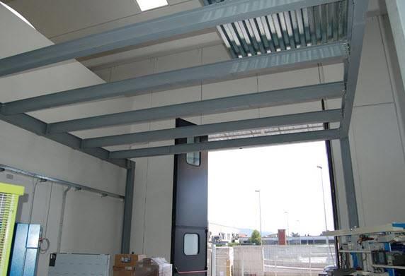 Soppalco prefabbricato il controsoffitto tutto sul for Come costruire un capannone moderno