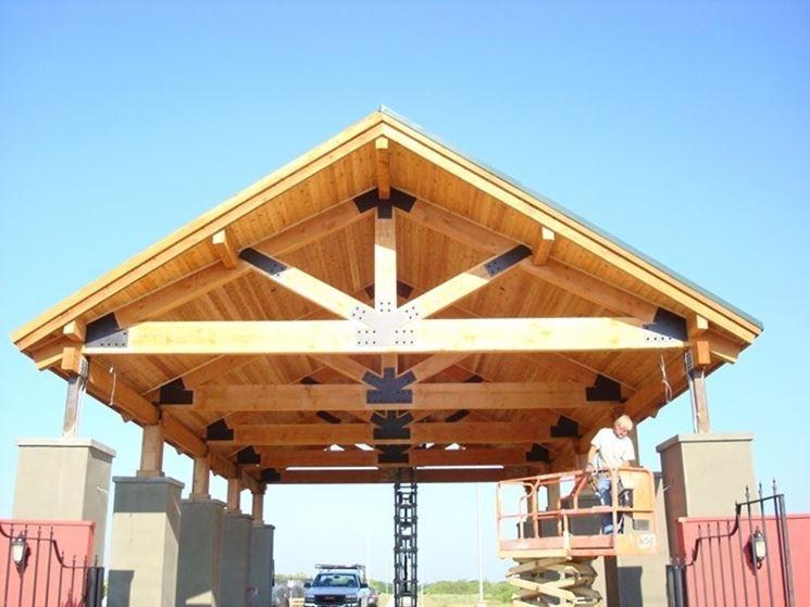 Capriata e copertura in legno