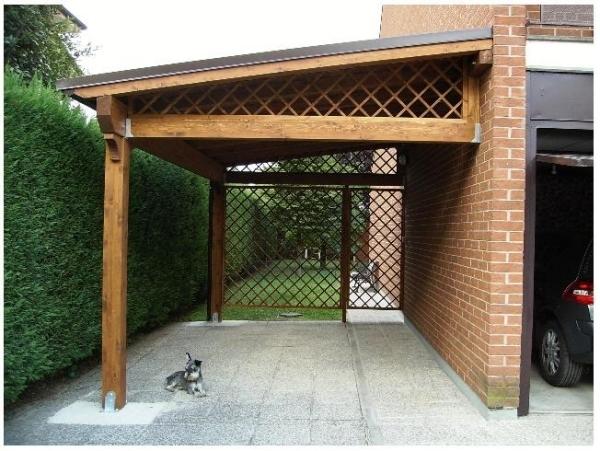 Come costruire una tettoia il tetto tettoie materiali for 2 piani di garage per auto con soppalco