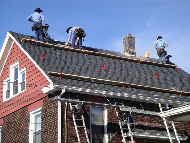 tetto in costruzione