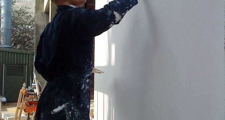 Applicazione esterna dell'intonaco termico