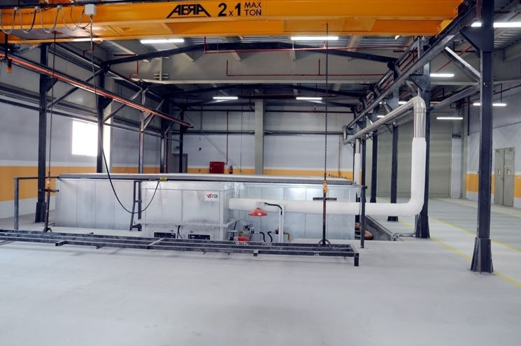 Impianto industriale di verniciatura a polvere