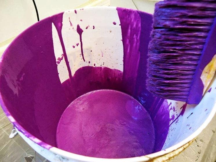 Pittura lavabile dalla tonalità intensa