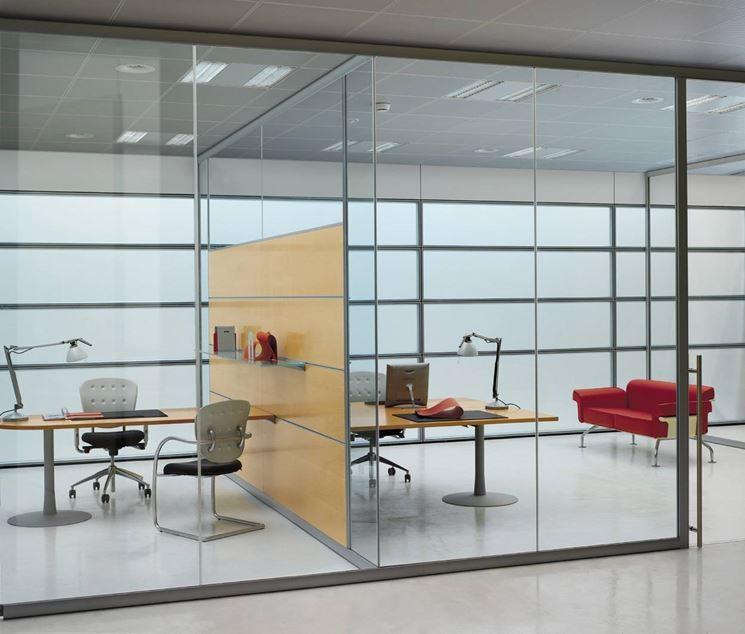 Caratteristiche delle pareti di vetro le pareti - Pareti divisorie ufficio economiche ...